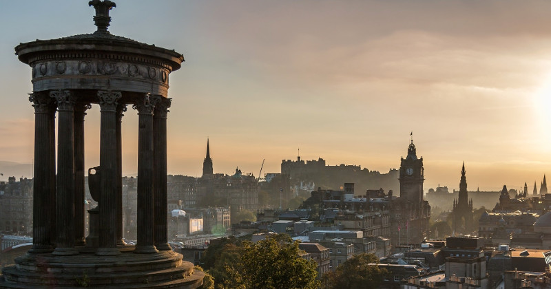 The impressive cityscape and historical attractions of Edinburgh, UK