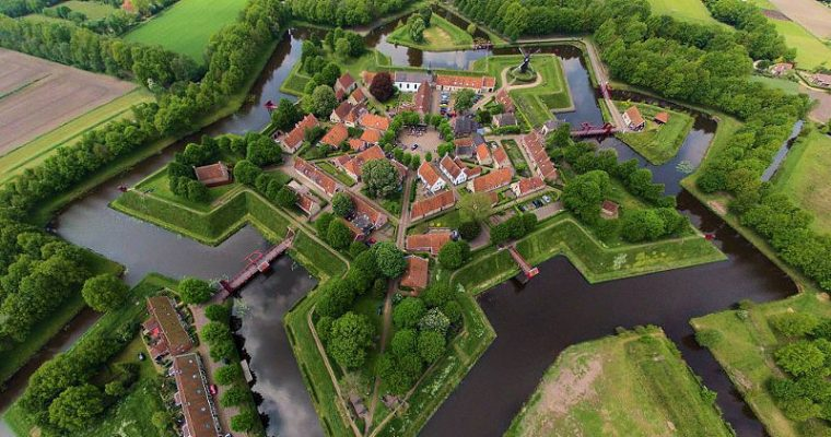 The beautiful star shaped fort cities of the Netherlands [with drone footage]